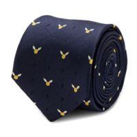 Harry Potter Golden Snitch Tie in Navy