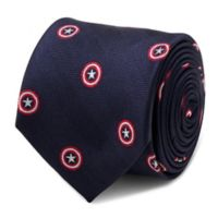 Marvel® Captain America Tie in Navy