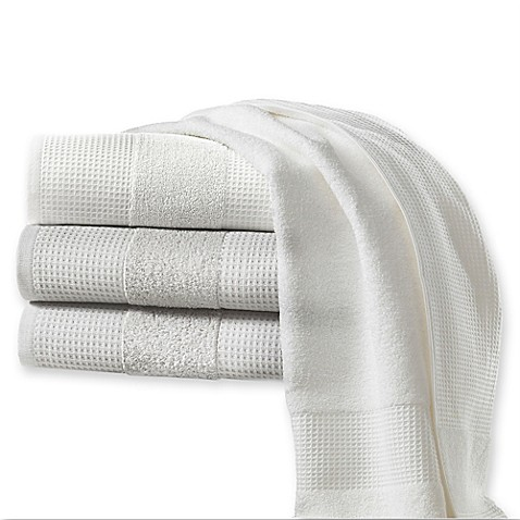 kassatex hotel spa turkish cotton waffle bath towel collection - Kassatex