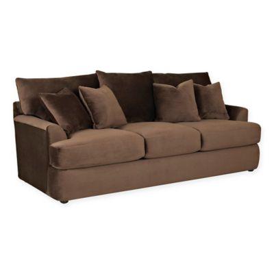 klaussner findley sofa sleeper in chocolate