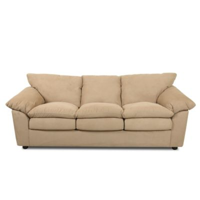 klaussner heights dreamquest full sofa sleeper in taupe
