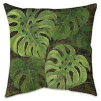 Dark Philodendron Indoor/Outdoor Throw Pillow