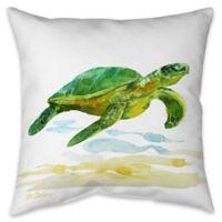 Sea Turtle I Indoor/Outdoor Throw Pillow