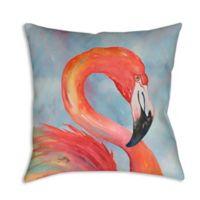 Graphic Flamingo Indoor/Outdoor Throw Pillow