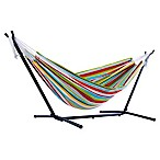 Vivere 9-Foot Multicolor Stripe Double Hammock with Stand