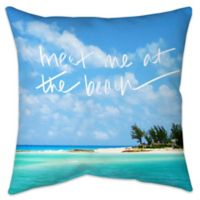 """Me At The Beach"" Indoor/Outdoor Throw Pillow"
