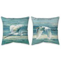 Great Egrets Indoor/Outdoor Throw Pillow