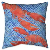 Jubilee Lobsters Indoor/Outdoor Throw Pillow
