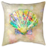 Splatter Seashell Indoor/Outdoor Throw Pillow