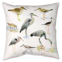 Watercolor Shorebirds Indoor/Outdoor Throw Pillow