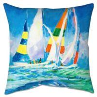 Come Sail Away Indoor/Outdoor Throw Pillow