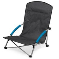 Picnic Time® Tranquility Portable Beach Chair in Grey/Blue