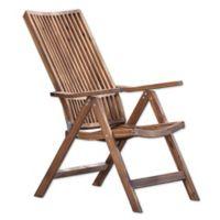 A & B Home Bayside Retreat Adjustable Lounge Chair in Teak