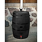 50-Gallon Rain Barrel with Flat Back in Black