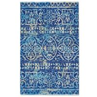 Feizy Lola Global 9-Foot 6-Inch x 13-Foot Indoor/Outdoor Area Rug in Blue