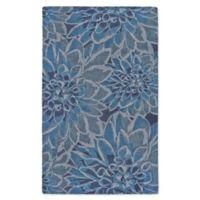 Feizy Lonni Bloom Burst 9-Foot x 13-Foot Indoor/Outdoor Area Rug in Blue