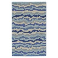 Feizy Lonni Wavy 9-Foot x 13-Foot Indoor/Outdoor Area Rug in Blue