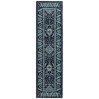 Mohawk Nepal 2-Foot x 7-Foot Runner in Blue