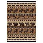 Aria Oregon Trail 5-Foot 3-Inch x 7-Foot 6-Inch Area Rug in Brown