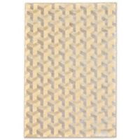 Feizy Penelope Geo Boxes 9-Foot 8-Inch x 12-Foot 7-Inch Indoor/Outdoor Rug in Cream/Silver