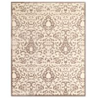Feizy Penelope Scroll 9-Foot 8-Inch x 12-Foot 7-Inch Indoor/Outdoor Are Rug in Cream/Grey