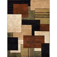 Home Dynamix Tribeca Box 7-Foot 10-Inch x 10-Foot 5-Inch Area Rug in Brown/Green