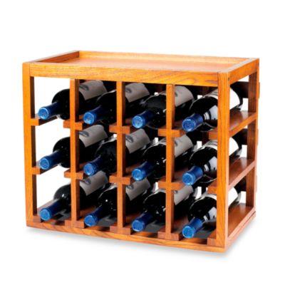 wine enthusiast 12bottle wooden wine rack