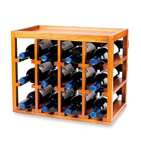 wine enthusiast 12 bottle wooden wine rack bed bath beyond