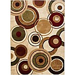 Home Dynamix Tribeca Radiating Circles 7-Foot 10-Inch x 10-Foot 6-Inch Area Rug in Ivory/Multicolor