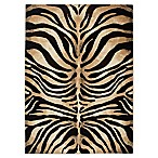 Home Dynamix Tribeca Tiger Stripe 7-Foot 10-Inch x 10-Foot 6-Inch Area Rug in Black/Ivory