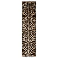 Home Dynamix Tribeca Tiger Stripe 1-Foot 9-Inch x 7-Foot 2-Inch Runner in Black/Ivory