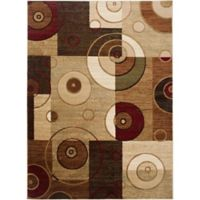 Home Dynamix Tribeca Contemporary Reaction 5-Foot 2-Inch x 7-Foot 2-Inch Area Rug in Multicolor