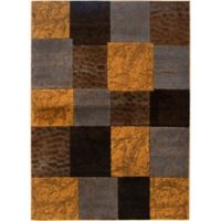 Home Dynamix Tribeca Tiles 7-Foot 10-Inch x 10-Foot 6-Inch Area Rug in Brown/Grey