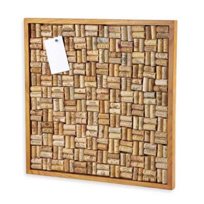 wine enthusiast 22 inch x 22 inch cork board - Wine Picture Frames