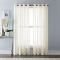 Wamsutta 63-Inch Grommet Top Sheer Window Curtain Panel in Ivory