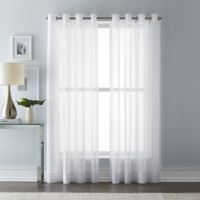 Wamsutta 63-Inch Grommet Top Sheer Window Curtain Panel in White