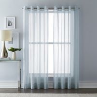 Wamsutta 108-Inch Grommet Top Sheer Window Curtain Panel in Blue