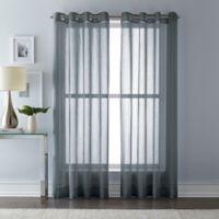 Wamsutta 63-Inch Grommet Top Sheer Window Curtain Panel in Charcoal