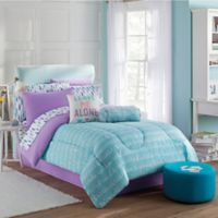 Claudette 8-Piece Full Comforter Set in Purple/Blue
