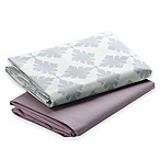 Graco® Pack 'n Play® 2-Pack Waterproof Sheets in Pink/Grey