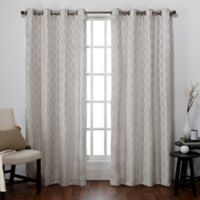 Exclusive Home Baroque Grommet Top Window Curtain Panel Pair