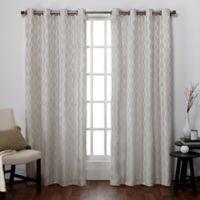 Exclusive Home Baroque 96-Inch Grommet Top Window Curtain Panel Pair in Dove Grey