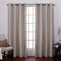 Exclusive Home Baroque 96-Inch Grommet Top Window Curtain Panel Pair in Natural