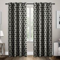 Exclusive Home Neptune 96-Inch Grommet Top Window Curtain Panel Pair in Black Pearl