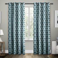 Exclusive Home Neptune 96-Inch Grommet Top Window Curtain Panel Pair in Teal