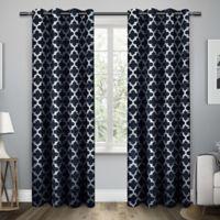 Exclusive Home Neptune 96-Inch Grommet Top Window Curtain Panel Pair in Indigo
