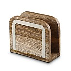 Thirstystone® Mango Wood & Bone Napkin Holder in Brown/White