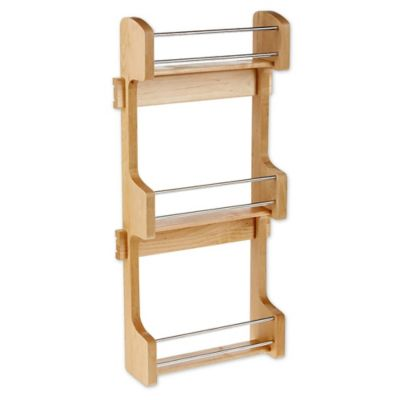 Rev A Shelf® Small Cabinet Door Mount Wood 3 Shelf Spice Rack