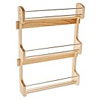 Rev-A-Shelf - 4SR-21 - Large Cabinet Door Mount Wood 3-Shelf Spice Rack