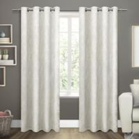 Exclusive Home Twig 84-Inch Room -Darkening Grommet Top Window Curtain Panel Pair in Ivory
